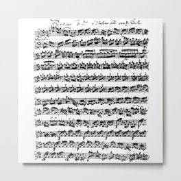 Bach Partita For Violin E Major Preludio Metal Print