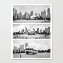 Chicago Triptik Cloud  Canvas Print