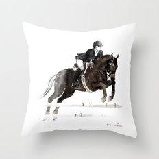 Horse (Jumper II) Throw Pillow