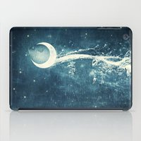 river iPad Cases featuring Moon River by Paula Belle Flores
