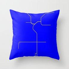 LA Metro Throw Pillow