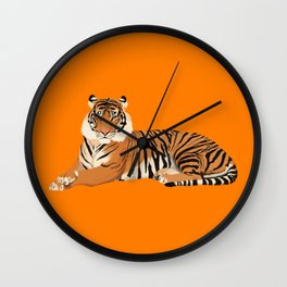 Orange Tiger Wall Clock