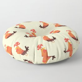 Roosters Pattern Floor Pillow
