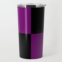 Psychedelic black and purple XIII. Travel Mug