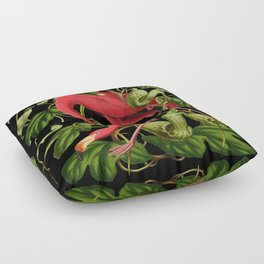 Flamingo Black Floor Pillow