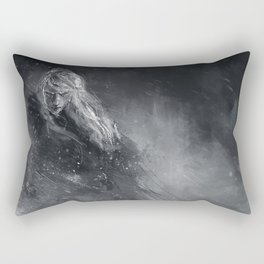Finrod crossing the Helcaraxe Rectangular Pillow