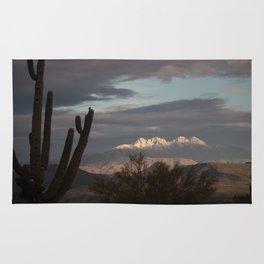 Arizona Four Peaks in Winter Rug