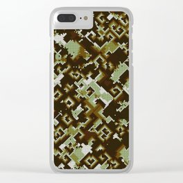 Chaotic spirals Clear iPhone Case