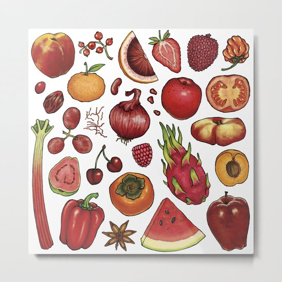 Red Food Metal Print