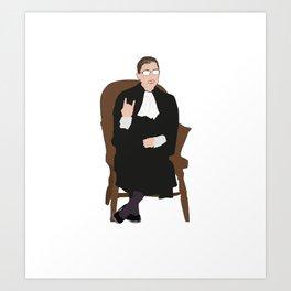 R.B.G: Judicial Badass Art Print