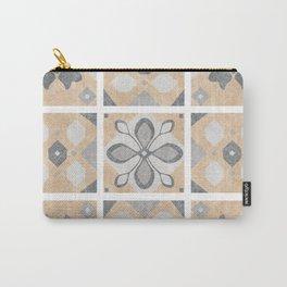 Terracotta Vintage Tiles Design Carry-All Pouch