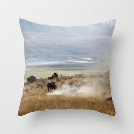 WHERE THE BUFFALO ROAM Throw Pillow