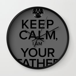 Keep Calm, I Am Your Father Wall Clock