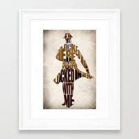 rorschach Framed Art Prints featuring Rorschach by Ayse Deniz
