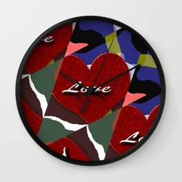 heart matter Wall Clock
