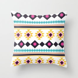 Aztec Fun Colorful Abstract Mix Throw Pillow