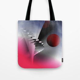 go upstairs -3- Tote Bag