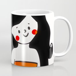 Happy Little Dancing Mermaid Coffee Mug