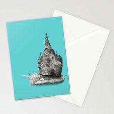 The Snail's Dream (monochrome option) Stationery Cards