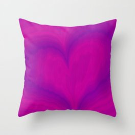 Valentine's Day Purple Violet Heart Pattern Throw Pillow