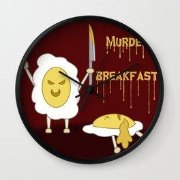 Murder Breakfest Wall Clock