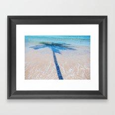 TREE IN SEA Framed Art Print
