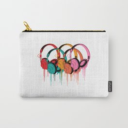 Colorful Headphones Carry-All Pouch