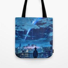 your name Taki Stars Balcony Tote Bag