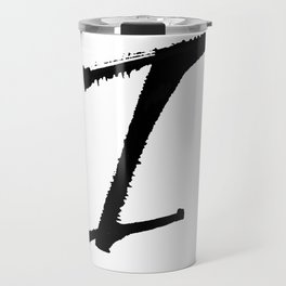 Letter I Ink Monogram Travel Mug