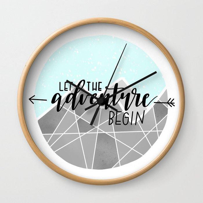 Let The Adventure Begin Wall Clock