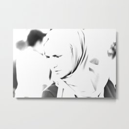 Portrait of a turkish woman at bazaar Metal Print