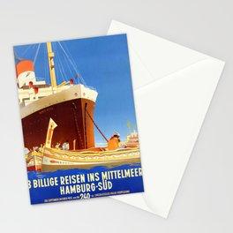 Santa Rosa - Vintage German Passenger ship poster Stationery Cards
