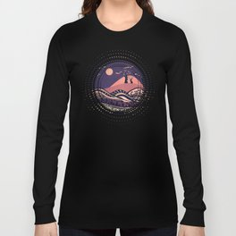 Psychedelic mountains (colour option) Long Sleeve T-shirt