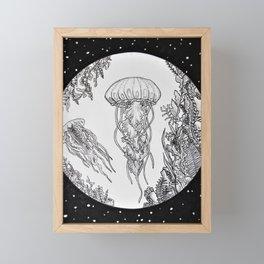 Jellies in Space Framed Mini Art Print