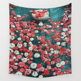 Pool of Flowers Wall Tapestry