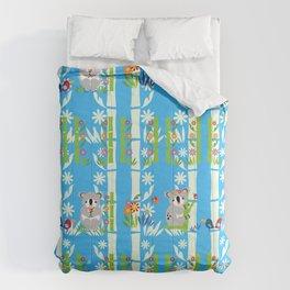 Cute pair of koalas Comforters