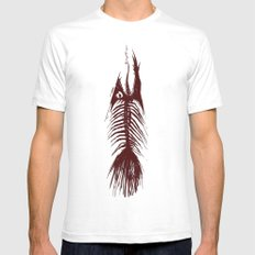 The Fishy Eskeleto White SMALL Mens Fitted Tee