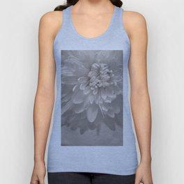 Monochrome Chrysanthemum Close-up Unisex Tank Top