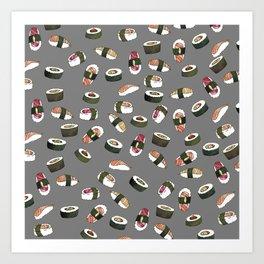 Sushi on Gray Art Print