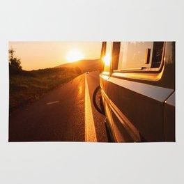 Sunset Travels Van (Color) Rug