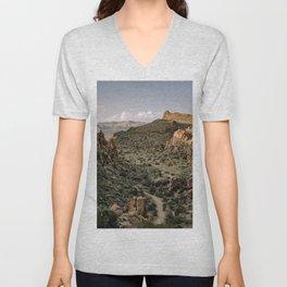 Balanced Rock Valley View in Big Bend - Landscape Photography Unisex V-Neck