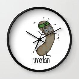 Runner Bean Wall Clock
