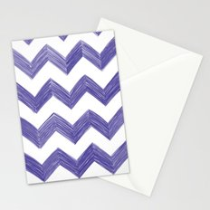 Classic Chevrons in Blue-Purple Stationery Cards