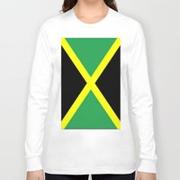 jamaica Long Sleeve T-shirts featuring Jamaica Flag by Barrier _S_D