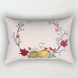 Autumn Wreath Rectangular Pillow