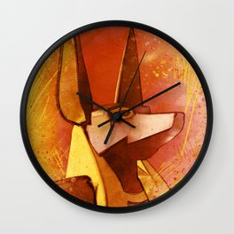 Anubis - Jackal God of Ancient Egypt Wall Clock