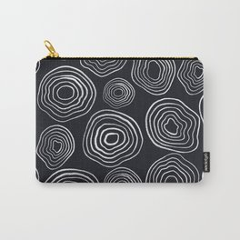 Active Wear Hand Drawn Navy and White Swirl Simple Pattern Carry-All Pouch