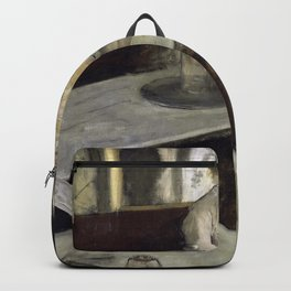 The Absinthe Drinker by Edgar Degas Backpack