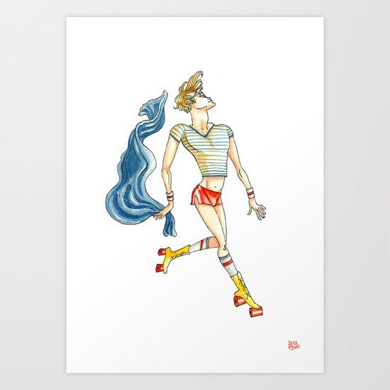 Roller Boy Art Print
