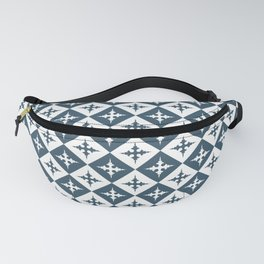 Tile pattern - Blue and White Fanny Pack